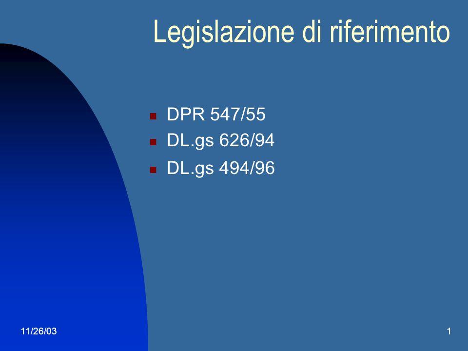11/26/031 Corso Sicurezza