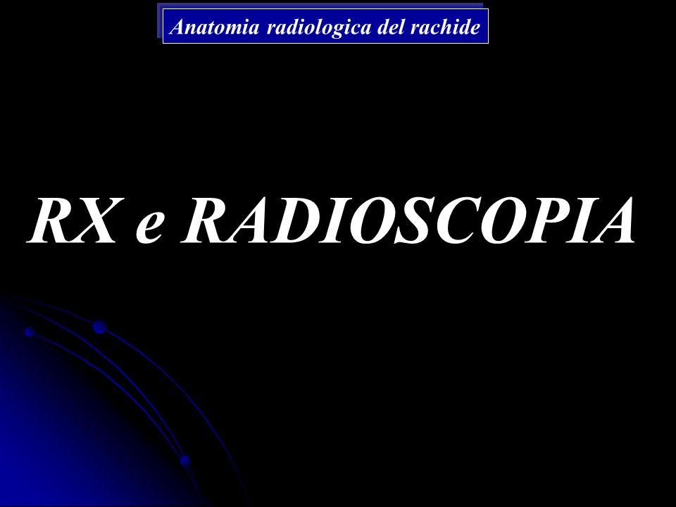 RX e RADIOSCOPIA Anatomia radiologica del rachide