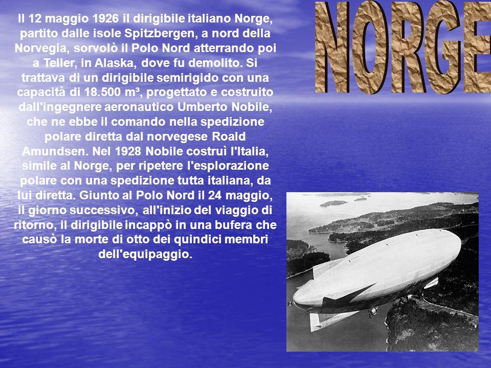 Umberto Nobile fu un ingegnere aeronautico ed esploratore italiano, fu tra i pionieri del volo nelle regioni artiche. Progettò i dirigibili Norge e It