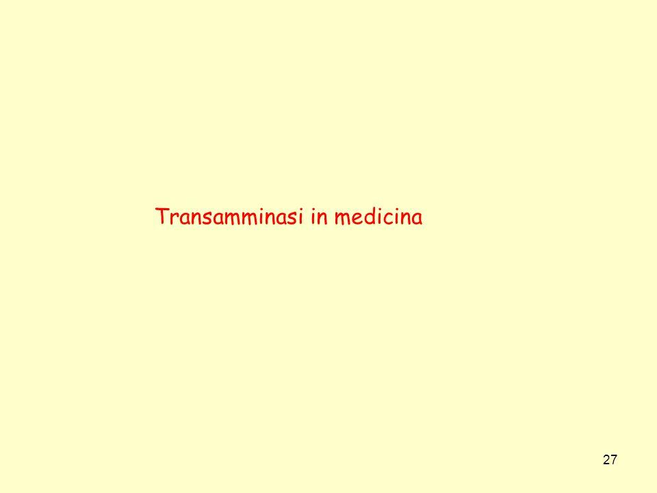 27 Transamminasi in medicina