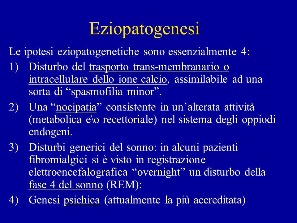 Eziopatogenesi Le ipotesi eziopatogenetiche sono essenzialmente 4: 1)Disturbo del trasporto trans-membranario o intracellulare dello ione calcio, assi