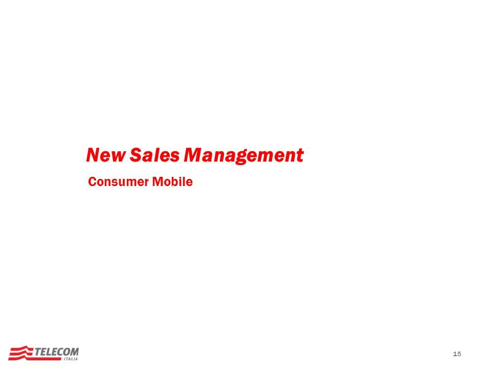 15 New Sales Management Consumer Mobile