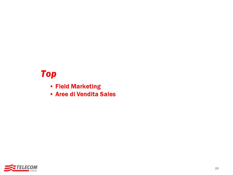 26 Top Field Marketing Aree di Vendita Sales
