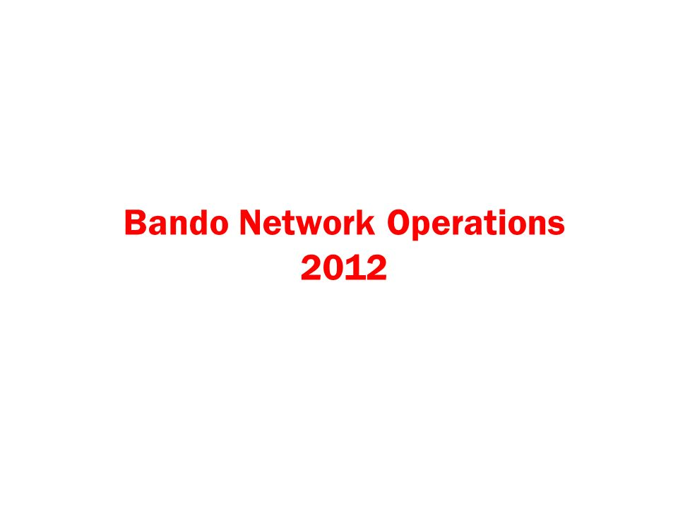 TECHNOLOGY NETWORK OPERATIONS Network Development G.