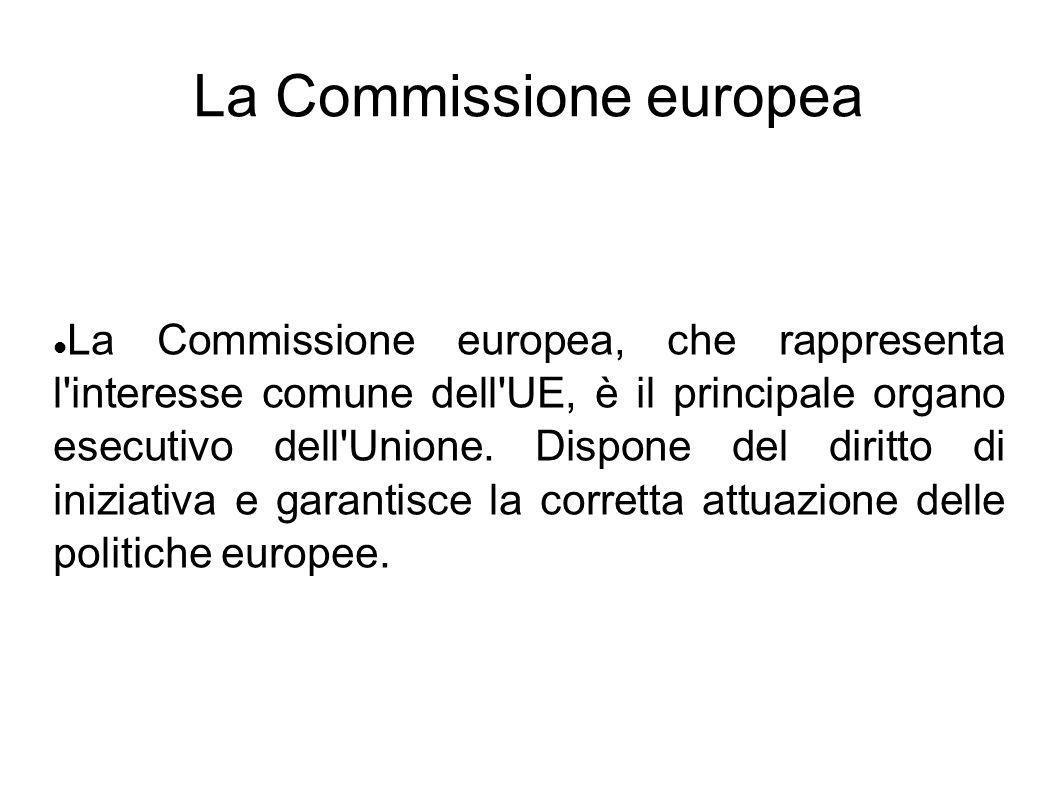 La Commissione europea La Commissione europea, che rappresenta l'interesse comune dell'UE, è il principale organo esecutivo dell'Unione. Dispone del d
