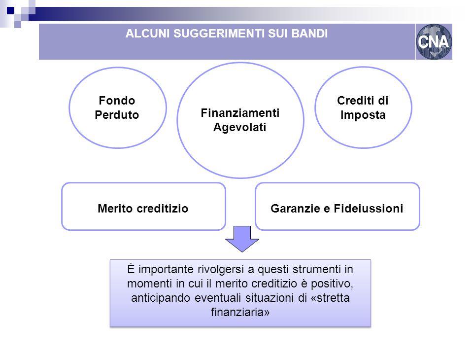 Come finanziare le reti Lombardia ALCUNI SUGGERIMENTI SUI BANDI Merito creditizioGaranzie e Fideiussioni È importante rivolgersi a questi strumenti in