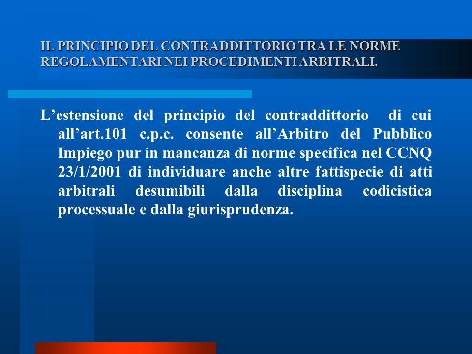 IL PRINCIPIO DEL CONTRADDITTORIO TRA LE NORME REGOLAMENTARI NEI PROCEDIMENTI ARBITRALI.