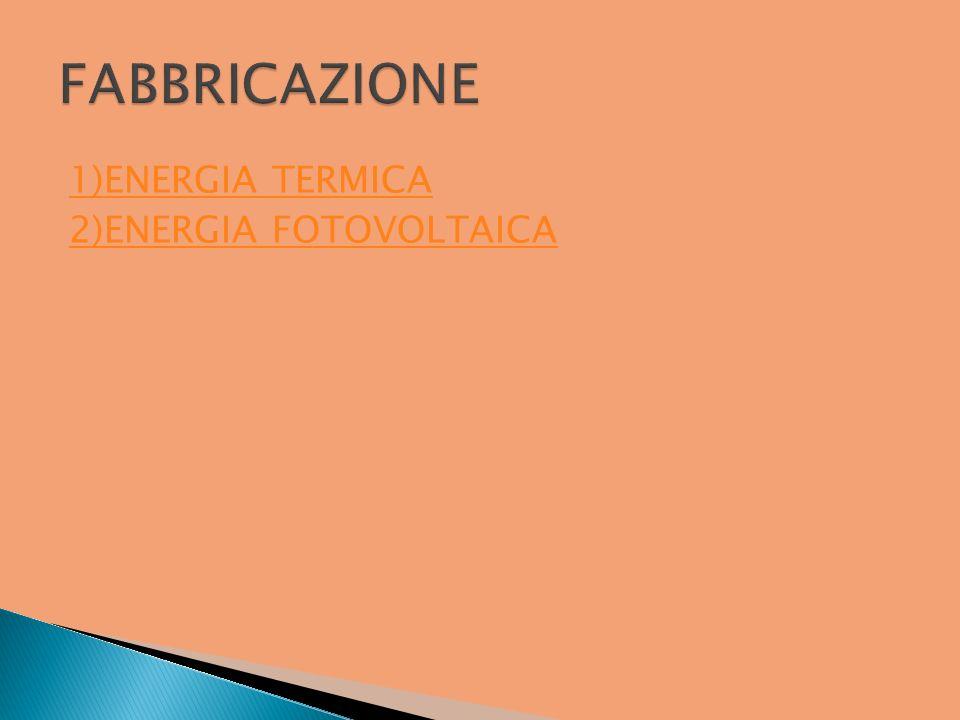 1)ENERGIA TERMICA 2)ENERGIA FOTOVOLTAICA