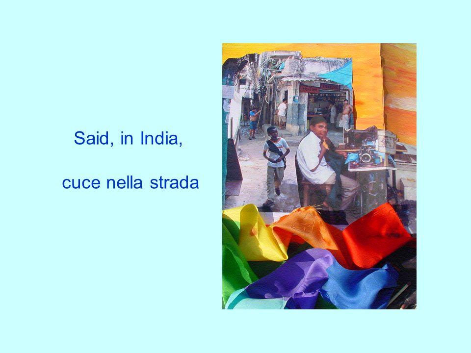 Said, in India, cuce nella strada