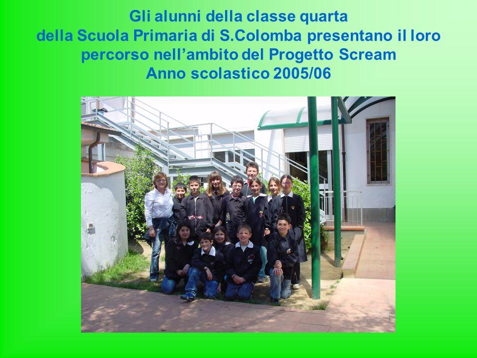 Gli alunni della classe quarta della Scuola Primaria di S.Colomba presentano il loro percorso nellambito del Progetto Scream Anno scolastico 2005/06