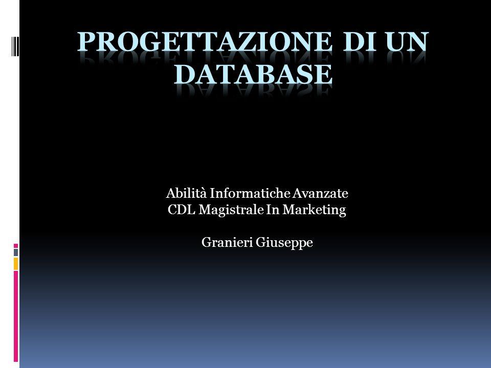Abilità Informatiche Avanzate CDL Magistrale In Marketing Granieri Giuseppe