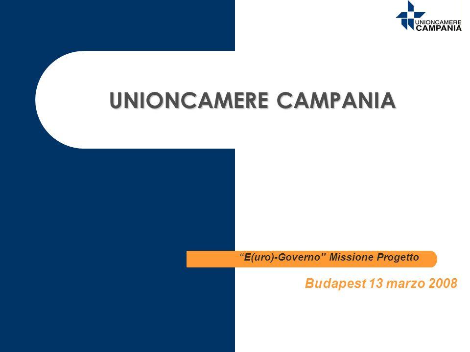 UNIONCAMERE CAMPANIA E(uro)-Governo Missione Progetto Budapest 13 marzo 2008
