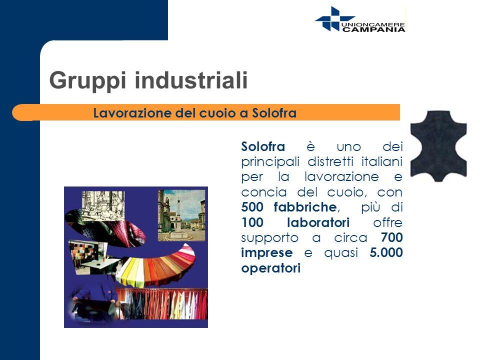 Solofra è uno dei principali distretti italiani per la lavorazione e concia del cuoio, con 500 fabbriche, più di 100 laboratori offre supporto a circa