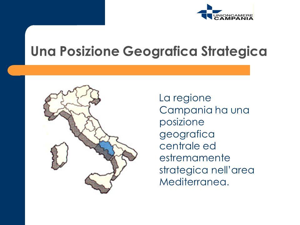 Una Posizione Geografica Strategica La regione Campania ha una posizione geografica centrale ed estremamente strategica nellarea Mediterranea.