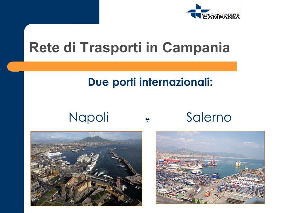 Rete di Trasporti in Campania Due porti internazionali: Napoli e Salerno