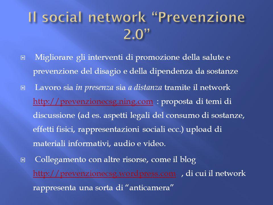 Migliorare gli interventi di promozione della salute e prevenzione del disagio e della dipendenza da sostanze Lavoro sia in presenza sia a distanza tr