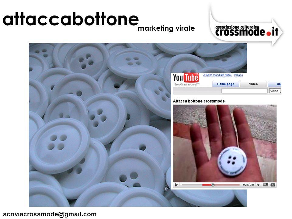 scriviacrossmode@gmail.com attaccabottone marketing virale