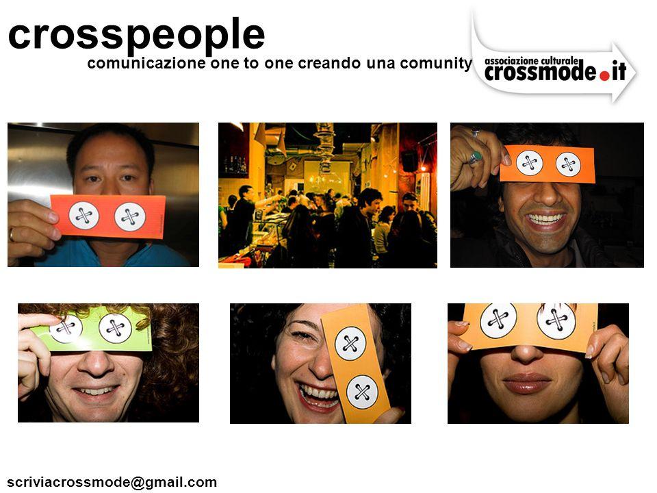scriviacrossmode@gmail.com crosspeople comunicazione one to one creando una comunity