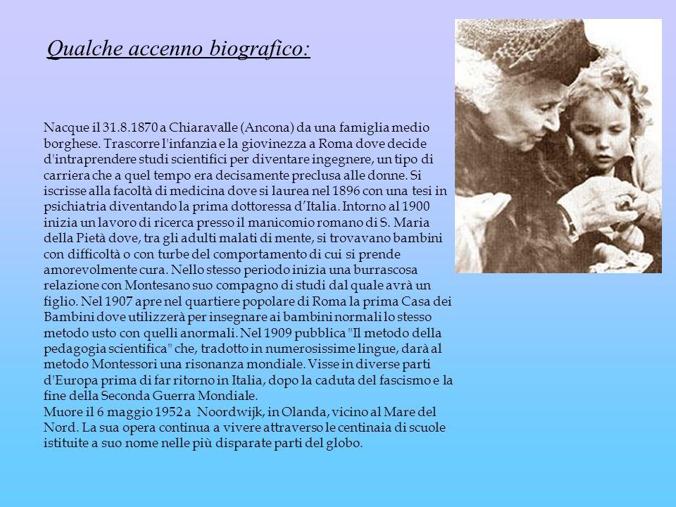 Qualche accenno biografico: Nacque il 31.8.1870 a Chiaravalle (Ancona) da una famiglia medio borghese. Trascorre l'infanzia e la giovinezza a Roma dov