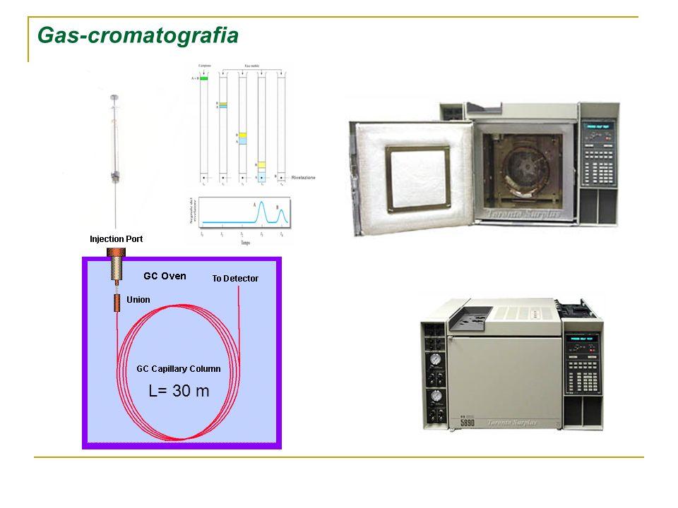 L= 30 m Gas-cromatografia