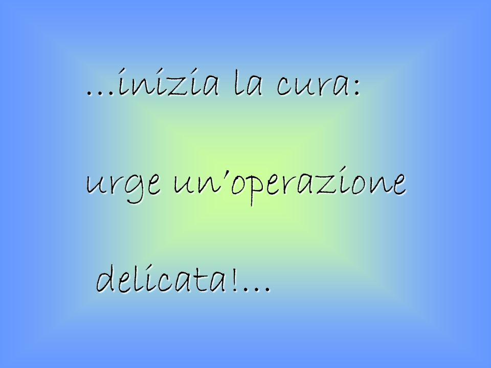 …inizia la cura: urge unoperazione delicata!… delicata!…