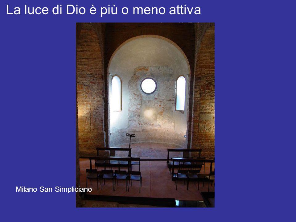 Luce e spazio di Dio La luce di Dio è più o meno attiva Milano San Simpliciano