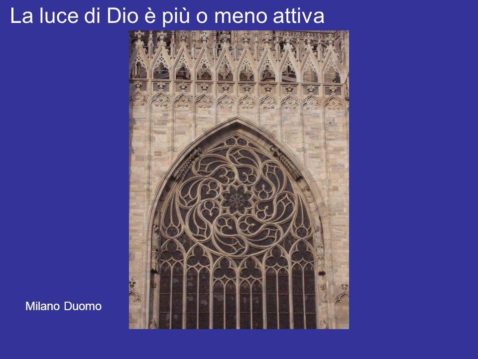Luce e spazio di Dio La luce di Dio è più o meno attiva Milano Duomo