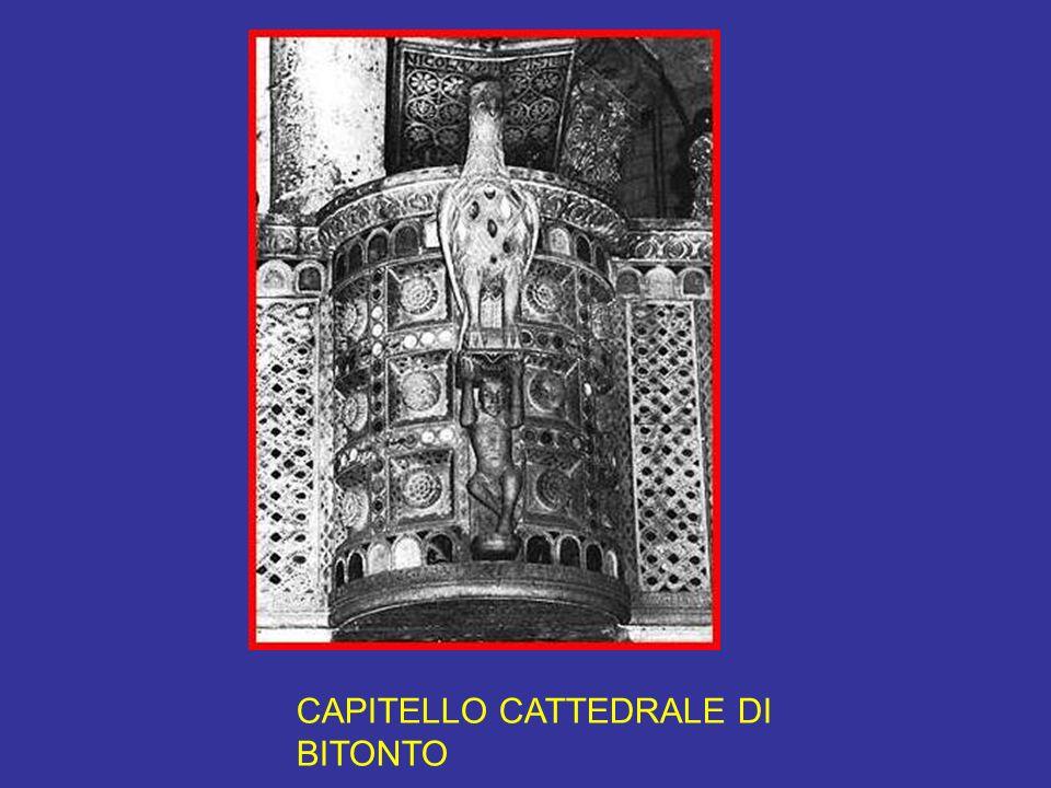 CAPITELLO CATTEDRALE DI BITONTO