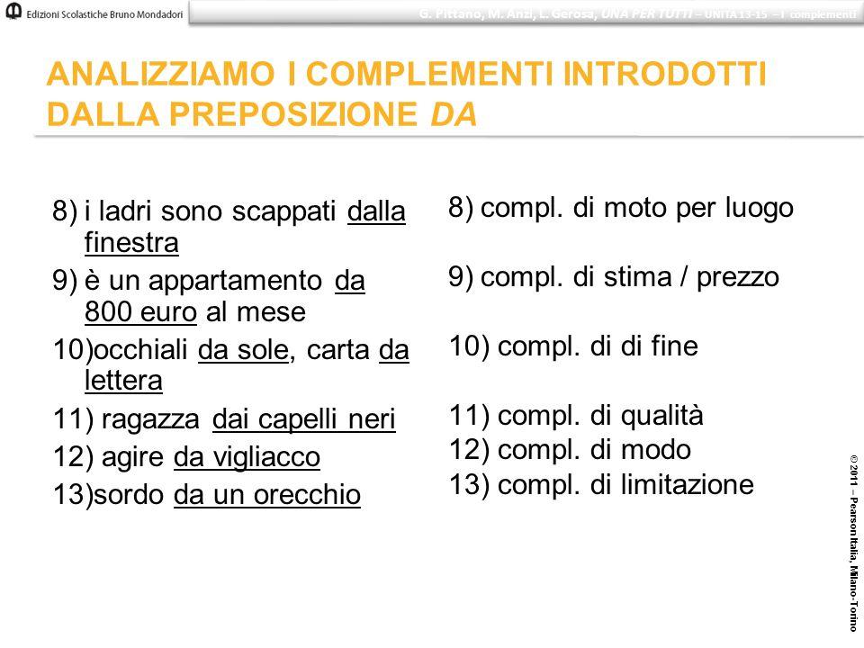 8)i ladri sono scappati dalla finestra 9)è un appartamento da 800 euro al mese 10)occhiali da sole, carta da lettera 11) ragazza dai capelli neri 12)