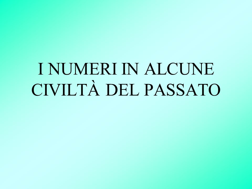 I numeri romani sono stati sostituiti da quelli arabi che sono più immediati e più comodi.