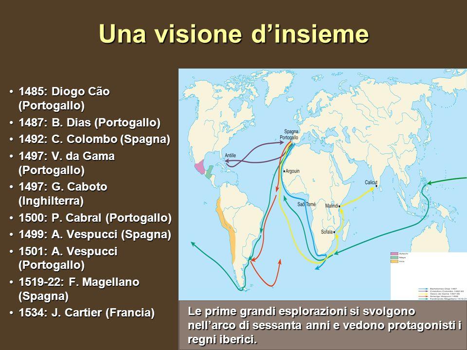 Una visione dinsieme 1485: Diogo Cão (Portogallo)1485: Diogo Cão (Portogallo) 1487: B. Dias (Portogallo)1487: B. Dias (Portogallo) 1492: C. Colombo (S