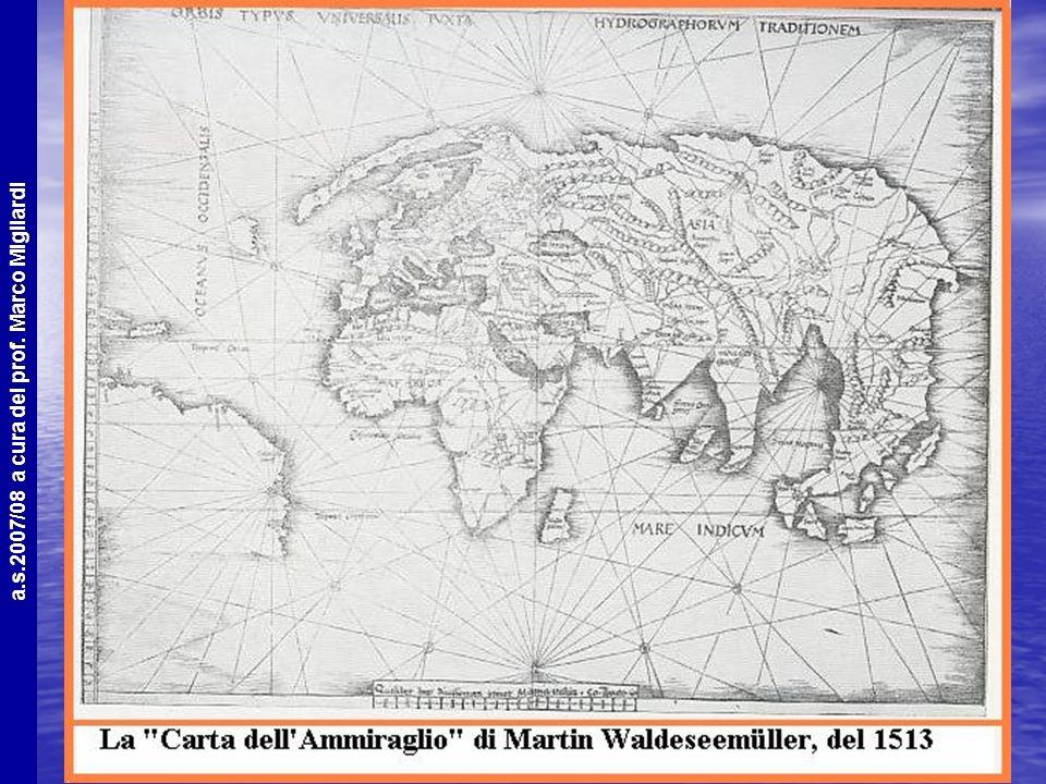 a.s.2007/08 a cura del prof. Marco Migliardi In questa mappa e nella seguente il profilo dellAfrica è già ben definito, così come quello dellIndia. Ap