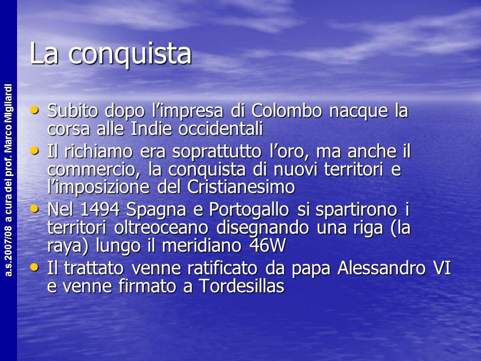 a.s.2007/08 a cura del prof. Marco Migliardi Questione n°1 Perché i viaggi oceanici solo dalla fine del 1400? Motivi: Politici La Reconquista Economic