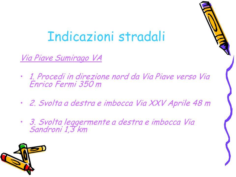 Indicazioni stradali Via Piave Sumirago VA 1.