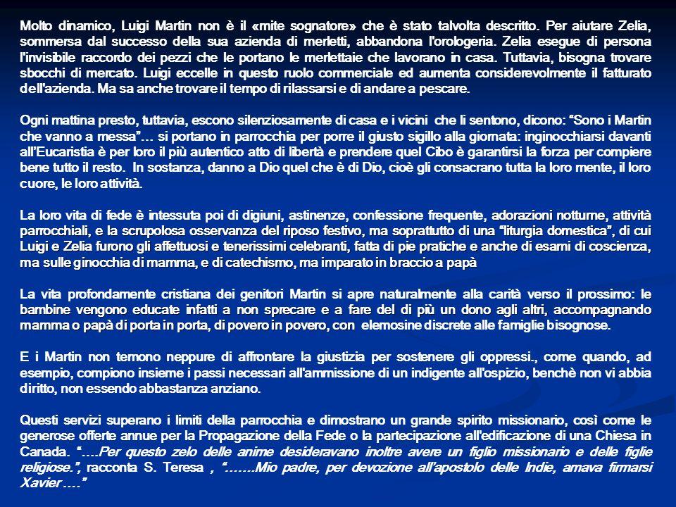 Molto dinamico, Luigi Martin non è il «mite sognatore» che è stato talvolta descritto. Per aiutare Zelia, sommersa dal successo della sua azienda di m