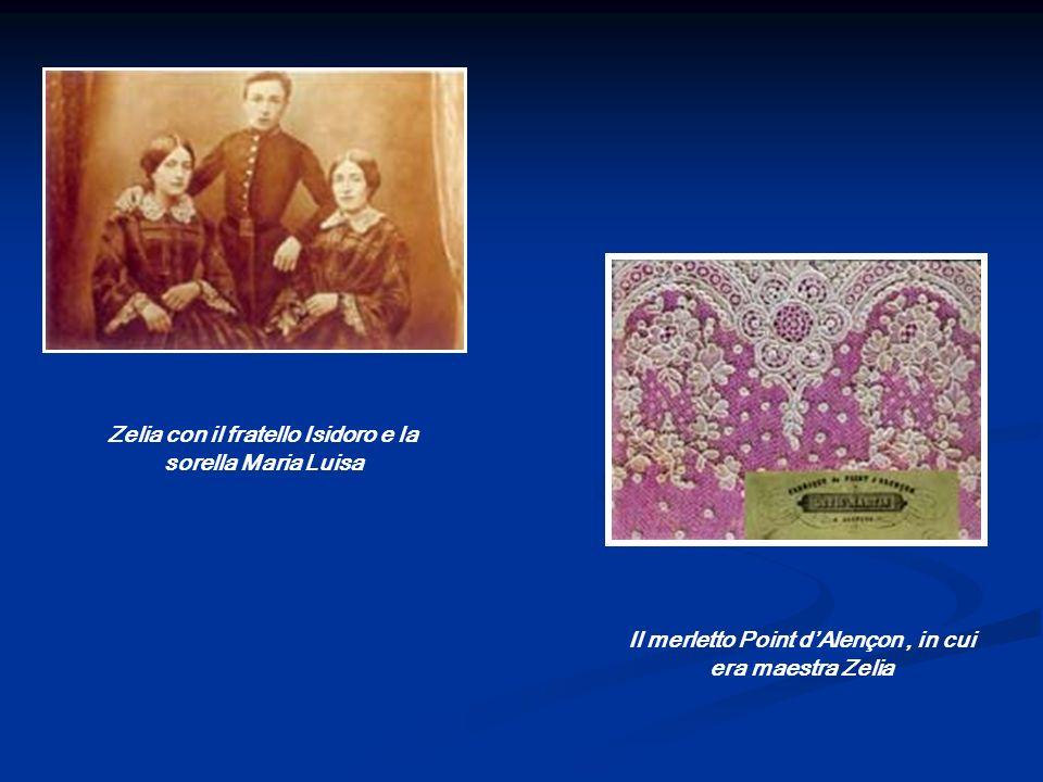 Zelia con il fratello Isidoro e la sorella Maria Luisa Il merletto Point dAlençon, in cui era maestra Zelia