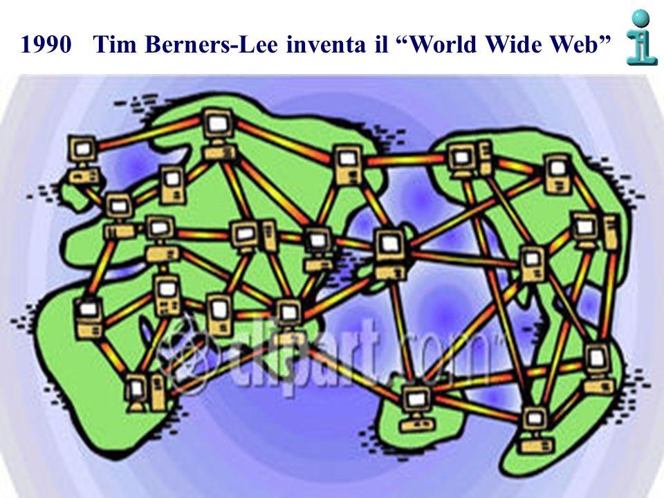 1990 Tim Berners-Lee inventa il World Wide Web