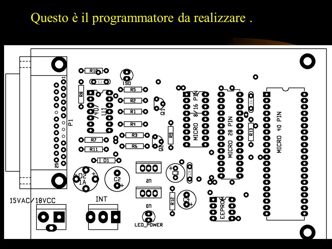 Occorre un programmatore per trasferire il file.hex alla memoria del PIC Il programmatore si può acquistare o autocostruire. Il programma per gestire