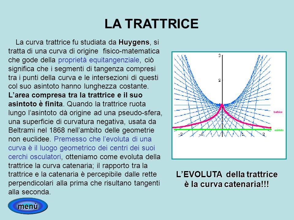 LA TRATTRICE Huygens La curva trattrice fu studiata da Huygens, si tratta di una curva di origine fisico-matematica che gode della proprietà equitange
