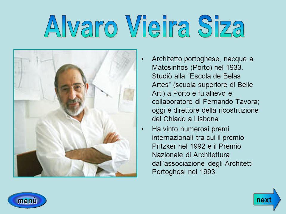 Architetto portoghese, nacque a Matosinhos (Porto) nel 1933. Studiò alla Escola de Belas Artes (scuola superiore di Belle Arti) a Porto e fu allievo e