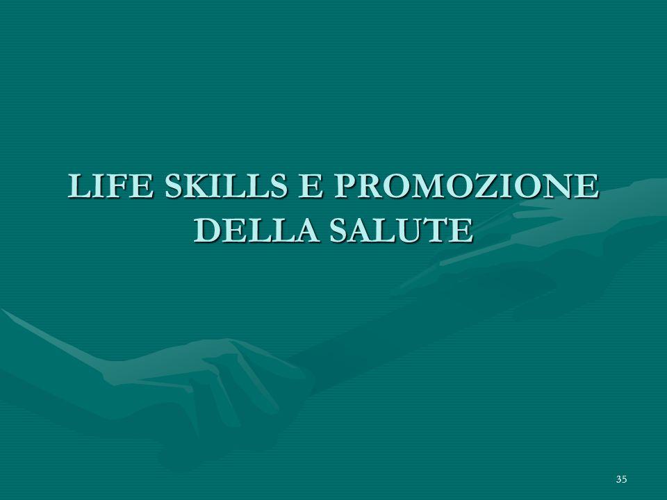 35 LIFE SKILLS E PROMOZIONE DELLA SALUTE
