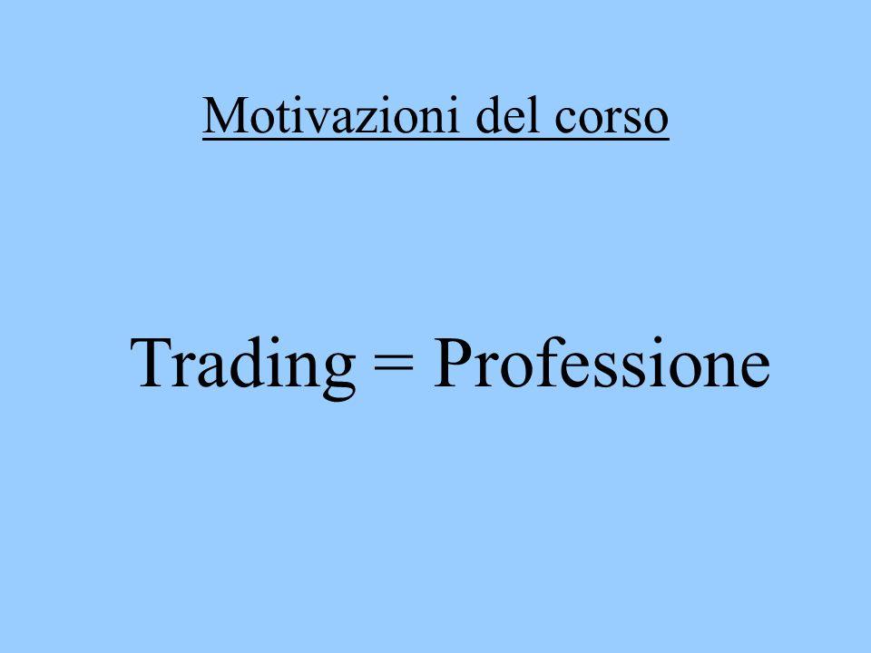 Caratteristiche del Professionista: Competenza Sistematicità Atteggiamento psicologico Approccio economico - non equivale ad un lavoro a tempo pieno - un esempio di professionista simile a quello del trading è il giocatore di Poker