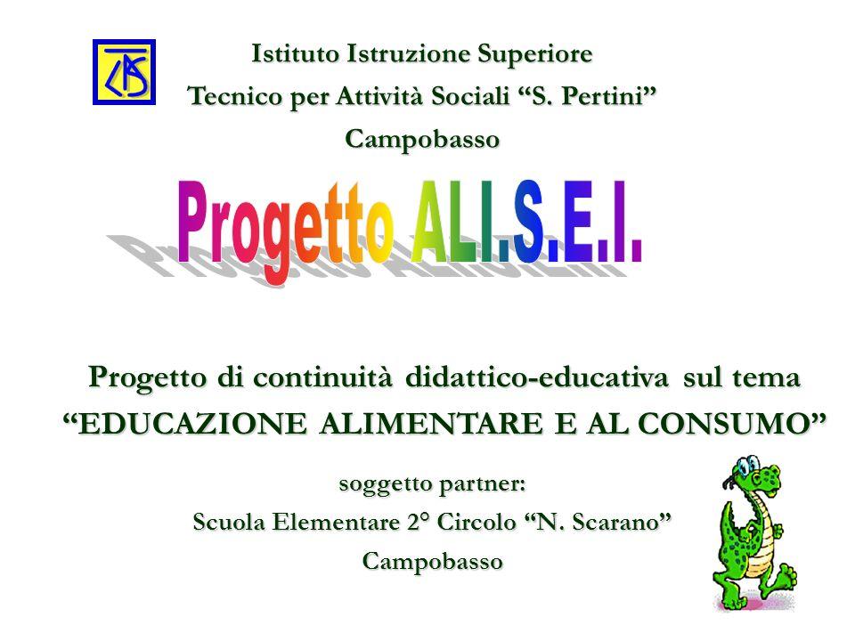 Istituto Istruzione Superiore Tecnico per Attività Sociali S. Pertini Campobasso Progetto di continuità didattico-educativa sul tema EDUCAZIONE ALIMEN