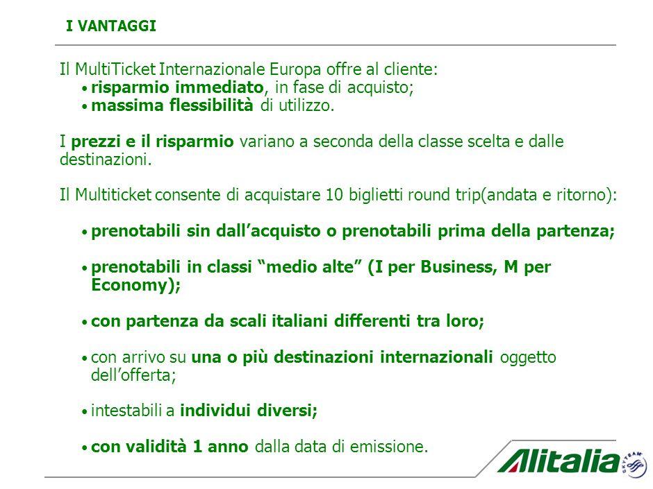 Alitalia presenta un nuovo prodotto Multiticket, la soluzione più vantaggiosa per viaggiare in Europa con il massimo della flessibilità. E rivolto a:
