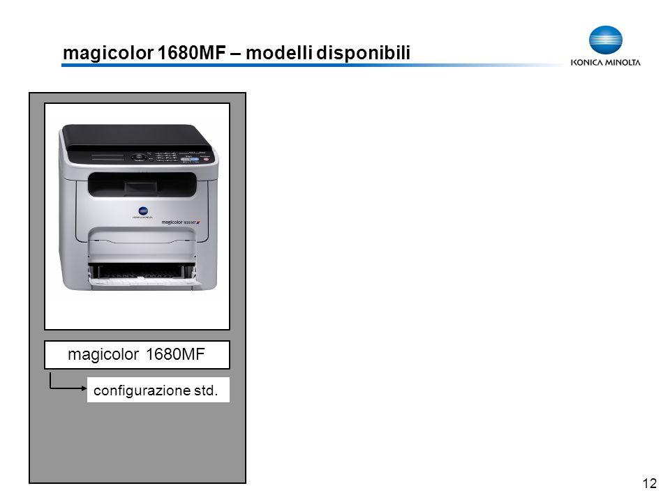 12 magicolor 1680MF – modelli disponibili magicolor 1680MF configurazione std.