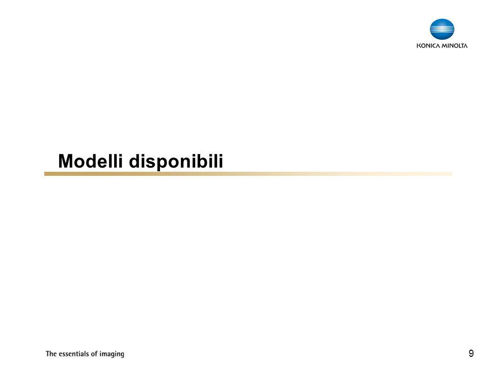 9 Modelli disponibili