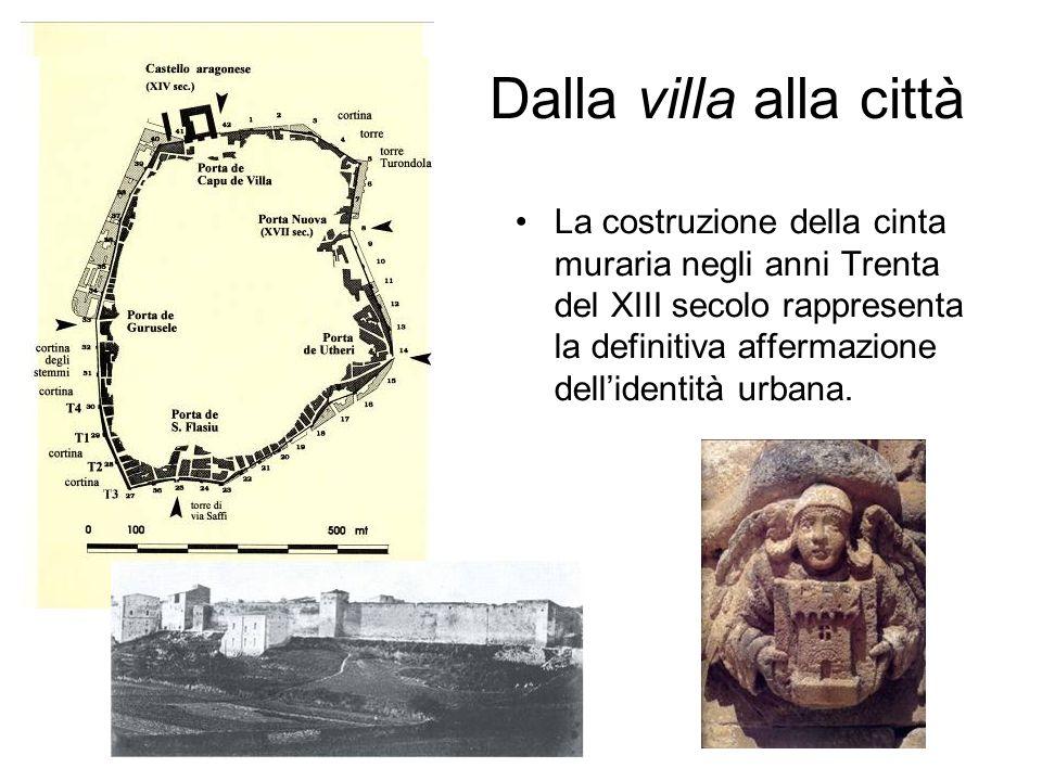 Dalla villa alla città La costruzione della cinta muraria negli anni Trenta del XIII secolo rappresenta la definitiva affermazione dellidentità urbana