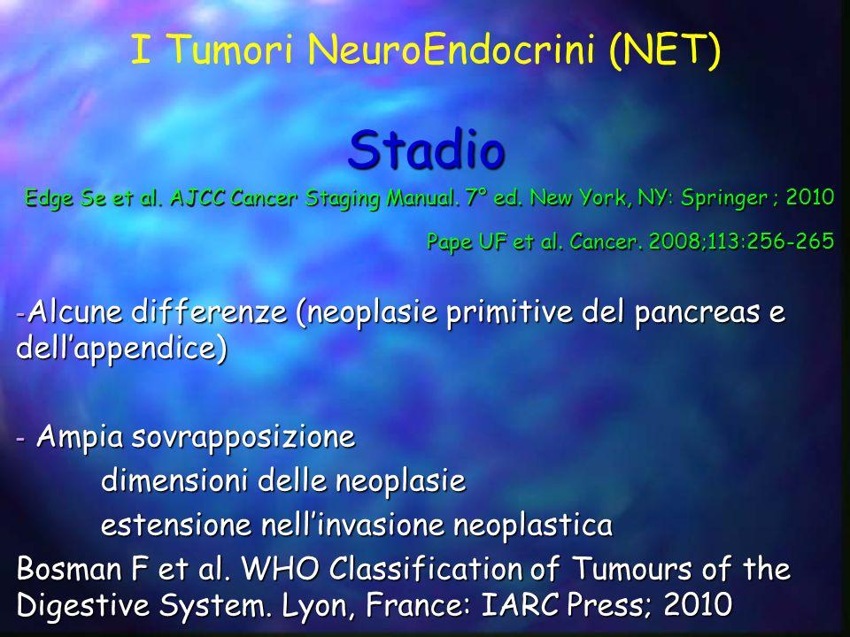 I Tumori NeuroEndocrini (NET) Stadio Edge Se et al. AJCC Cancer Staging Manual. 7° ed. New York, NY: Springer ; 2010 Pape UF et al. Cancer. 2008;113:2