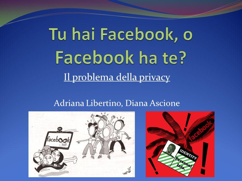 Il problema della privacy Adriana Libertino, Diana Ascione