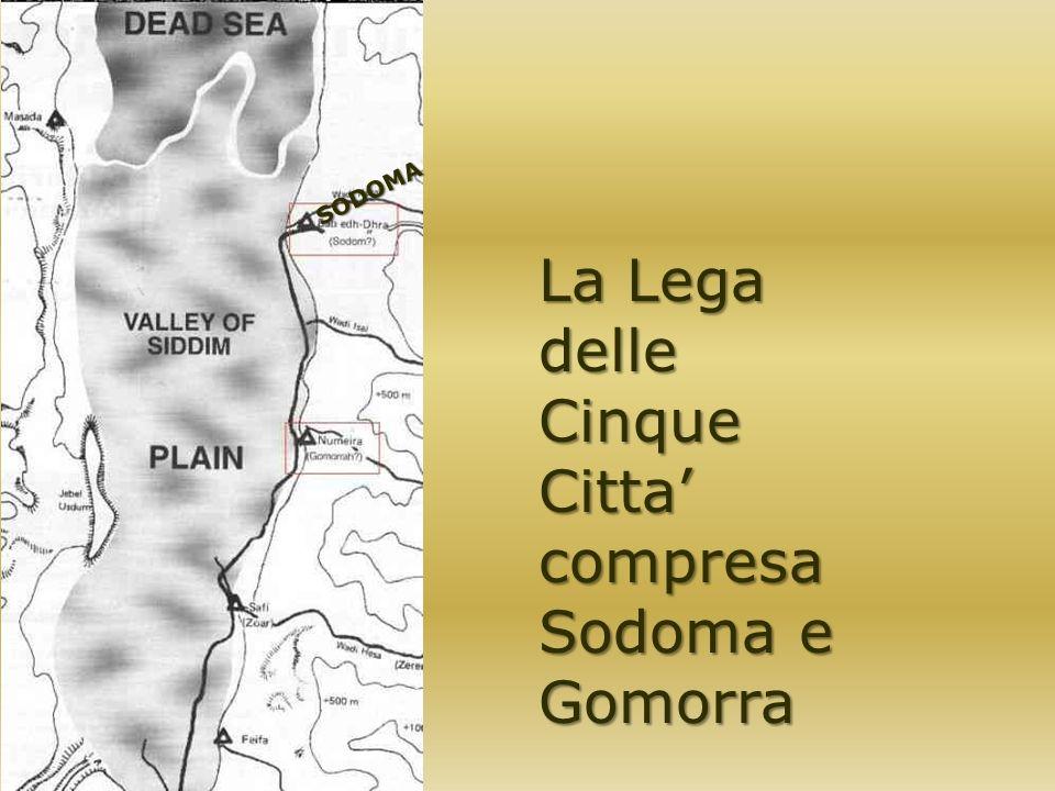 La Lega delle Cinque Citta compresa Sodoma e Gomorra SODOMA